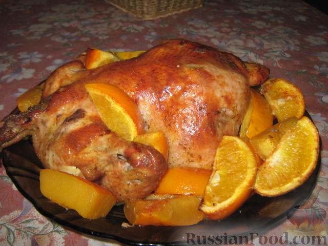 рецепт курицы в духовке с тыквой