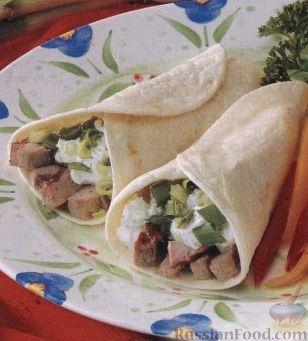 Рецепт Закуска из свиного филе и зелени