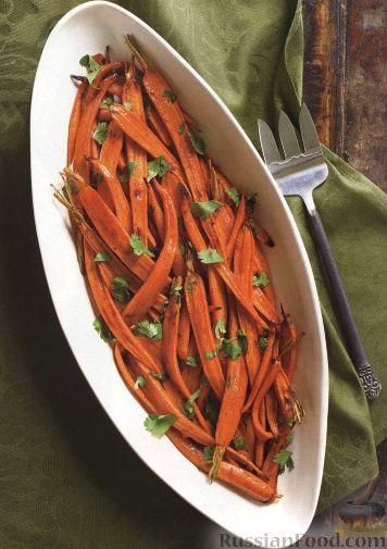 Рецепт Морковь, печенная в духовке