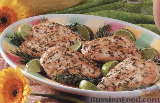Рецепт Куриное филе, приготовленное в сковороде на гриле