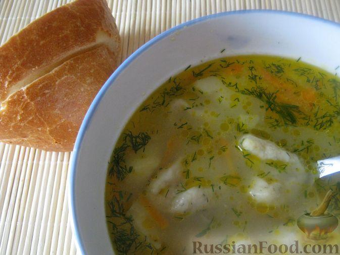Рецепт Суп с чесночными галушками