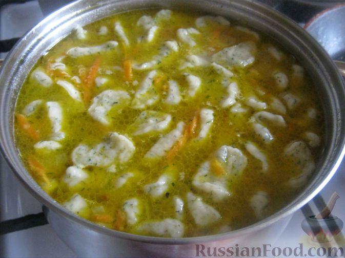как приготовить галушки для супа рецепт с фото пошагово