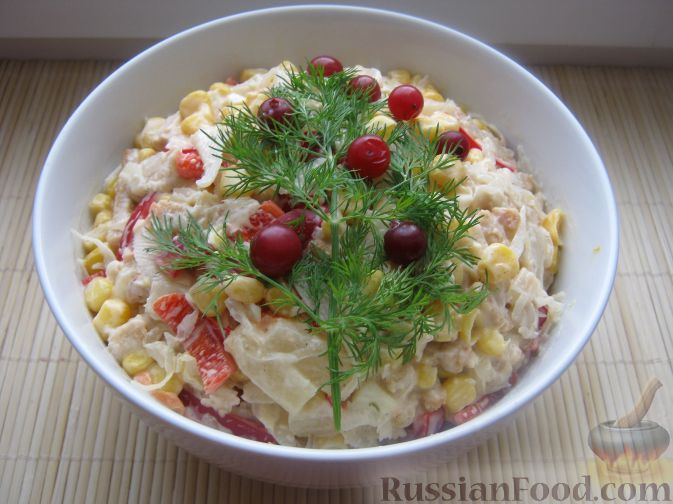 Рецепт Капустный салат с чесноком