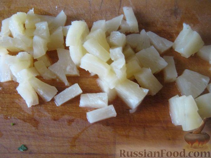 Фото приготовления рецепта: Террин из куриных сердечек и манной крупы - шаг №8