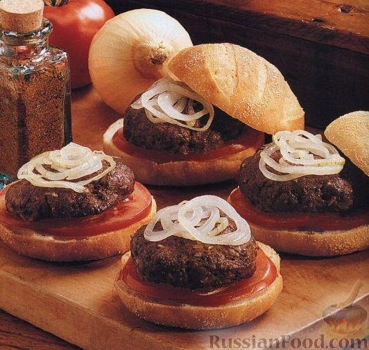 Рецепт Бургеры с ароматными котлетами