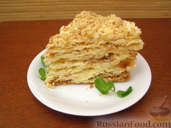 торт наполеон слоеный рецепт с фото