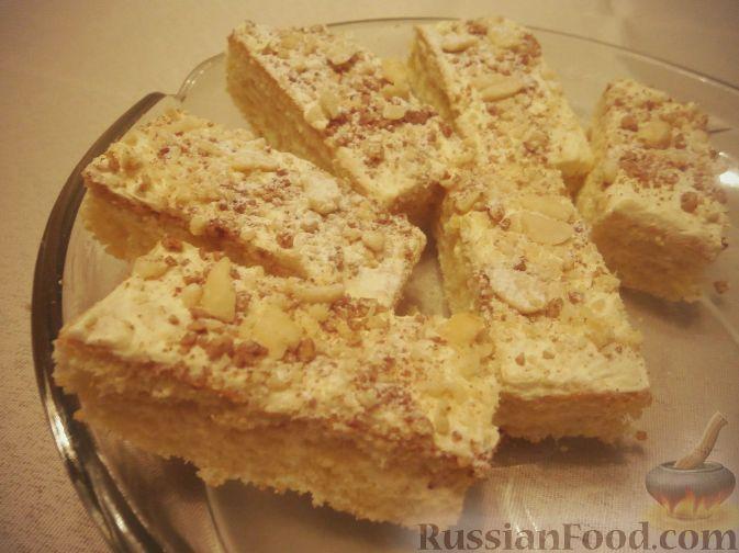 Рецепт Бисквитные пирожные с арахисовым кремом