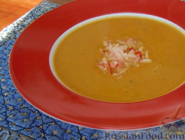 Рецепт Тыквенный суп-пюре с имбирем
