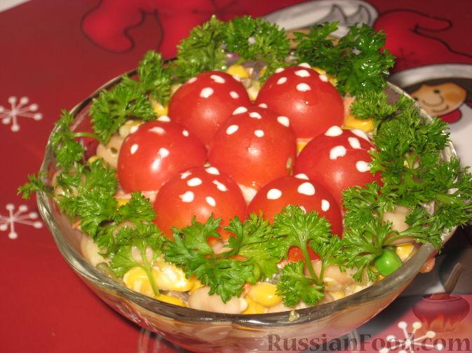 "Рецепт Грибной салат ""Мухомор"""