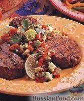 Фото к рецепту: Говяжьи стейки с томатной сальсой