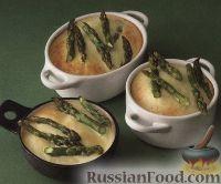 Фото к рецепту: Спаржа, запеченная с козьим сыром