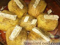 Фото приготовления рецепта: Картофельные веера с сыром - шаг №3