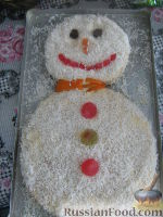 "Фото к рецепту: Торт ""Снеговик"""