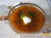 Фото к рецепту: Борщ вегетарианский с грибами