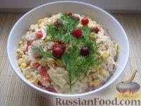 Фото к рецепту: Капустный салат с чесноком