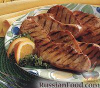 Фото к рецепту: Индюшиное филе, жаренное на гриле