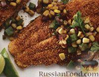 Фото к рецепту: Сом жареный с овощным соте