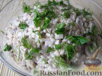 """Фото к рецепту: Салат с рисом и печенью """"Дуэт"""""""