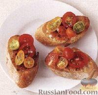 Фото к рецепту: Элементарные бутерброды с помидорами