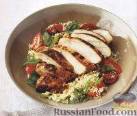 Фото к рецепту: Жареное куриное филе с кус-кусом