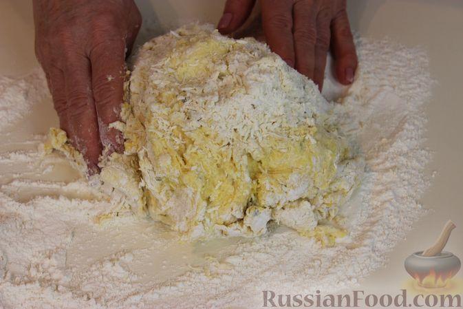 Фото приготовления рецепта: Тыквенные булочки с сыром - шаг №9