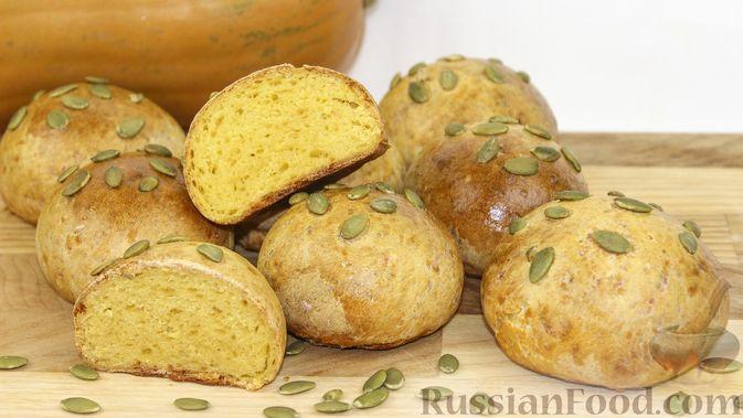 Фото приготовления рецепта: Тыквенные булочки с сыром - шаг №15
