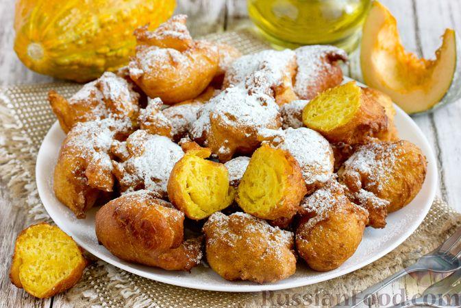 Фото к рецепту: Пончики из тыквы