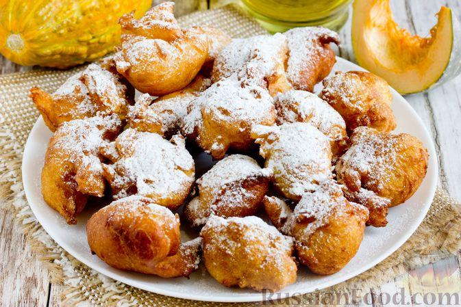 Фото приготовления рецепта: Пончики из тыквы - шаг №17