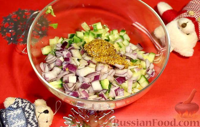 Фото приготовления рецепта: Закуска из лосося и авокадо - шаг №5
