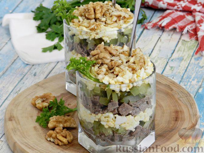 Фото к рецепту: Мясной салат с орехами
