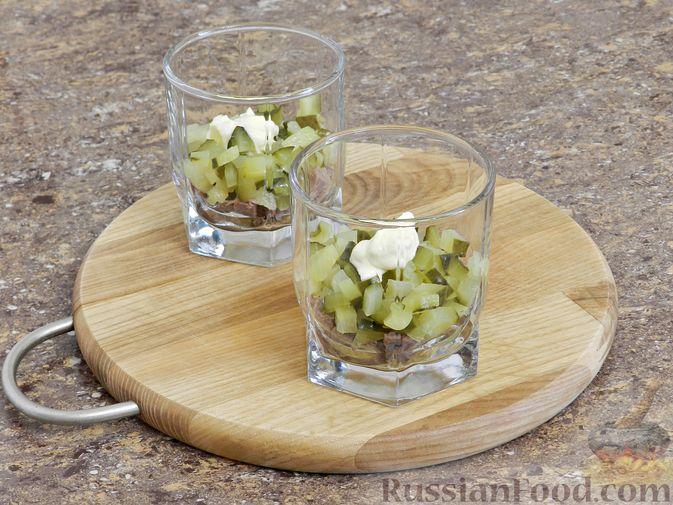Фото приготовления рецепта: Мясной салат с орехами - шаг №9