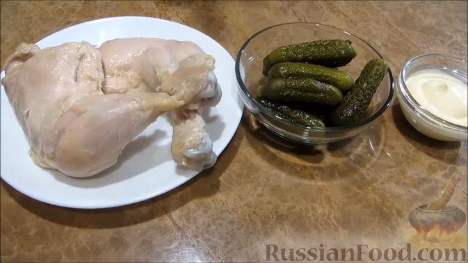 """Фото приготовления рецепта: Мясной закусочный """"Наполеон"""" - шаг №3"""