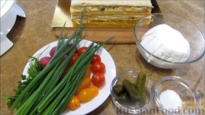 """Фото приготовления рецепта: Мясной закусочный """"Наполеон"""" - шаг №17"""