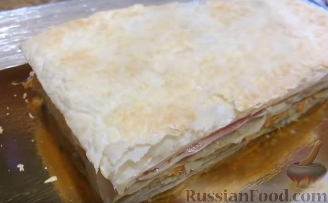 """Фото приготовления рецепта: Мясной закусочный """"Наполеон"""" - шаг №14"""