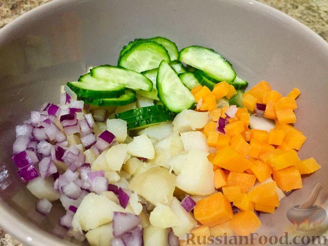 Фото приготовления рецепта: Салат из топинамбура с морковью - шаг №9