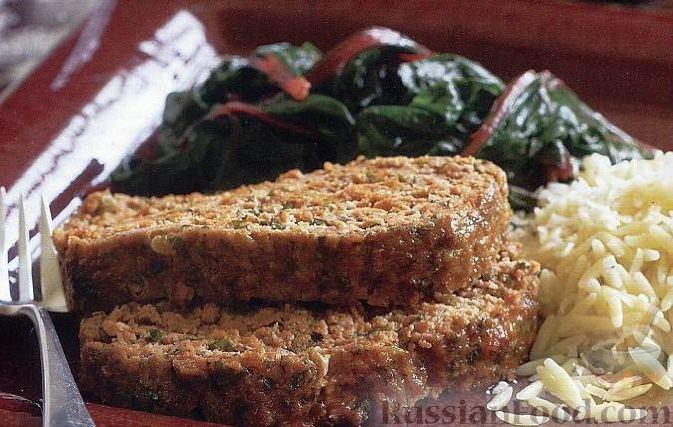 Рецепт Мясной рулет с зеленым луком и петрушкой
