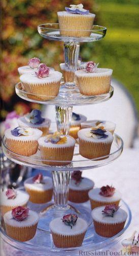 Рецепт Миндальные кексы с лимонной глазурью