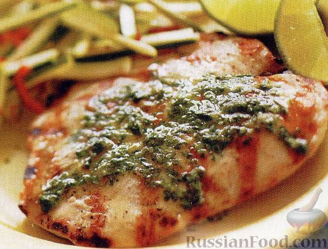 Рецепт Курица с лаймом и кинзой