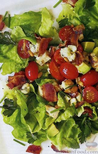Рецепт Салат «Кобб» с курицей и свежей зеленью