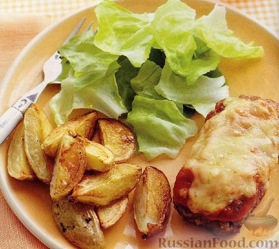 Рецепт Говяжьи котлеты с жареной картошкой