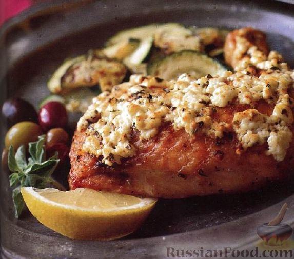 Рецепт Курица с лимоном, орегано и сыром фета
