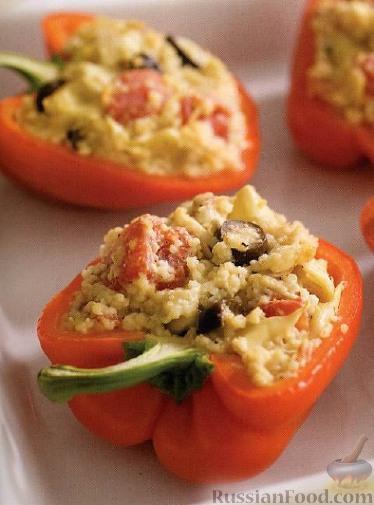 Рецепт Сладкий перец, фаршированный кускусом