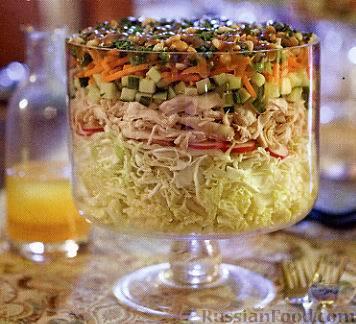 рецепты перемешанных салатов с фото