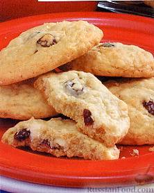 Рецепт Ванильное печенье с клюквой