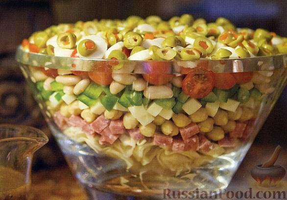 Рецепт Итальянский слоеный салат