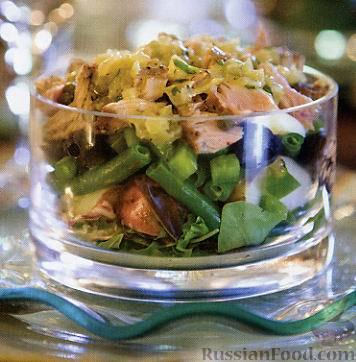 Рецепт Слоеный салат «Нисуаз» с тунцом