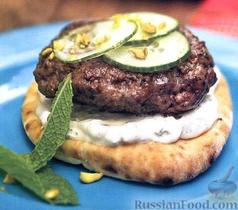 Рецепт Бутерброды с рубленым бифштексом из ягнятины