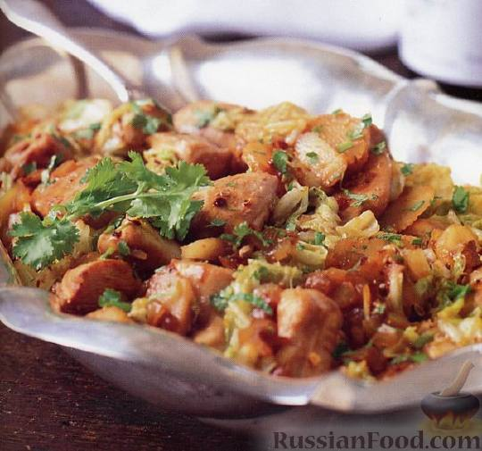 Рецепт Куриное филе с китайской капустой