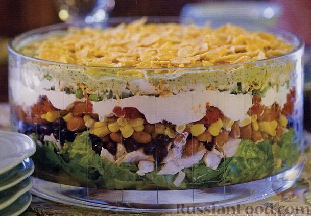 Слоеные салаты с фото