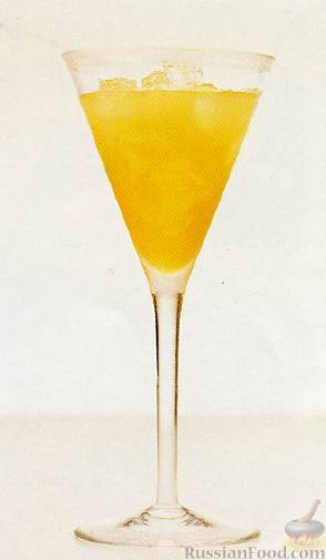 Рецепт Коктейль Желтый Попугай (Yellow parrot)